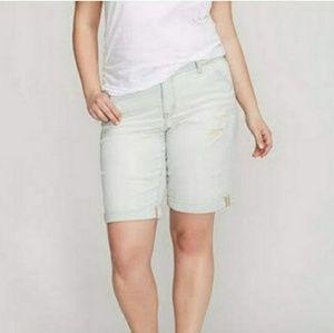 Lane Bryant pinstripe distressed bermuda shorts